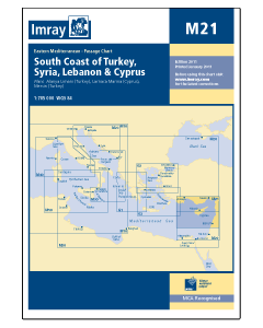 M21 South Coast of Turkey, Syria, Lebanon & Cyprus (Imray Chart)