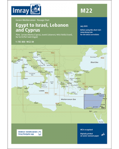 M22 Egypt to Israel, Lebanon and Cyprus (Imray Chart)