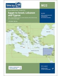M22 Egypt to Israel, Lebanon and Cyprus (Imray Chart)