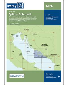 M26 Split to Dubrovnik (Imray Chart)