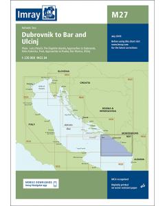 M27 Dubrovnik to Bar and Ulcinj (Imray Chart)