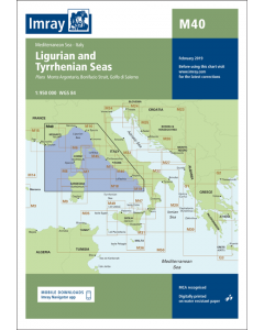 M40 Ligurian and Tyrrhenian Seas (Imray Chart)