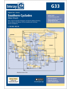 G33 Southern Cyclades - West Sheet (Imray Chart)