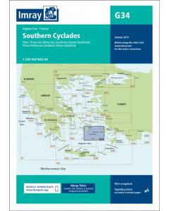 G34 Southern Cyclades - East Sheet (Imray Chart)