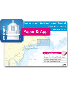 NV-Charts Reg. 3.1 - Rhode Island to Nantucket Sound: Watch Hill to Chatham