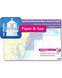 NV-Charts Reg. 4.1 - New Jersey Coast: New York - Long Island South to Cape May