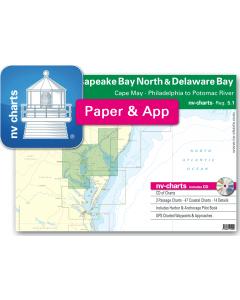 NV-Charts Reg. 5.1 - Chesapeake Bay North & Delaware Bay: Cape May - Philadelphia to Potomac River