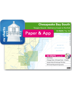 NV-Charts Reg. 5.2 - Chesapeake Bay South: Tangier Sound - Delmarva Coast to Norfolk
