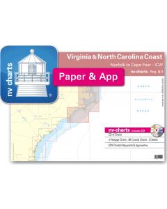 NV-Charts Reg. 6.1 - Virginia & North Carolina Coast: Norfolk to Cape Fear- ICW
