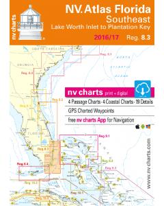 NV-Charts Reg. 8.3 - Florida, Southeast, Lake Worth to Plantation Key